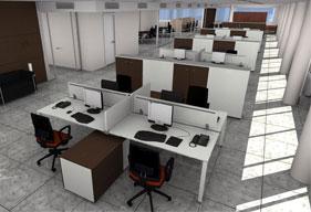 Disposizione Scrivania Ufficio : Progettazione uffici e open space office planet s.r.l. mobili