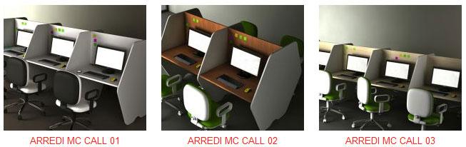 Postazioni e arredi call center mobili per ufficio for Center mobili outlet
