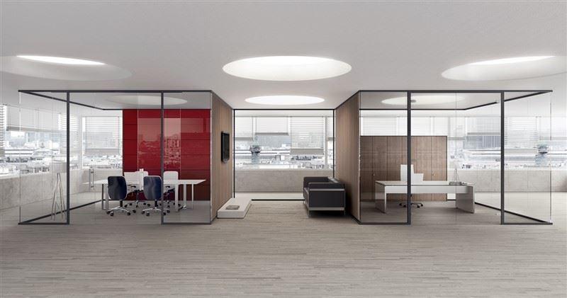 Pareti divisorie fisse mobili o attrezzate per ufficio for Pareti per ufficio