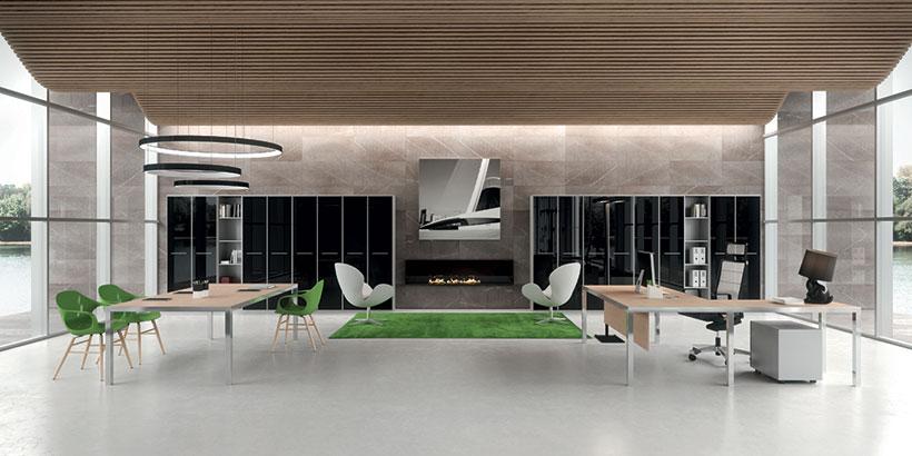 Mobili da ufficio e scrivanie in vetro o cristallo for Design ufficio vetro