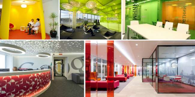 L utilizzo del colore in ufficio benessere e produttivit - Colori pareti ufficio ...