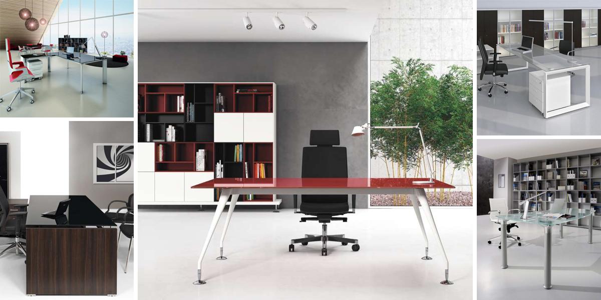 Mobili e scrivanie in vetro o cristallo per un ufficio for Scrivanie mobili