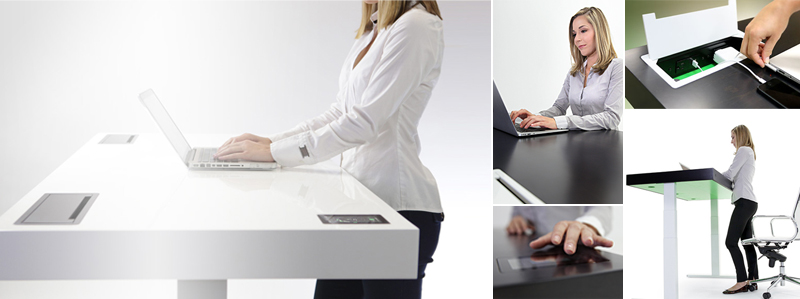 Scrivania tecnologica, adattabile da ufficio Stir Kinetic Desk